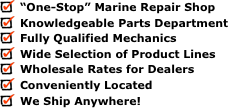 """One-Stop"" Marine Repair Shop